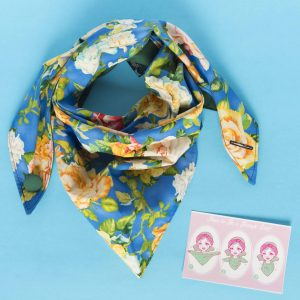 beautiful big floral vintage Triangle Scarf