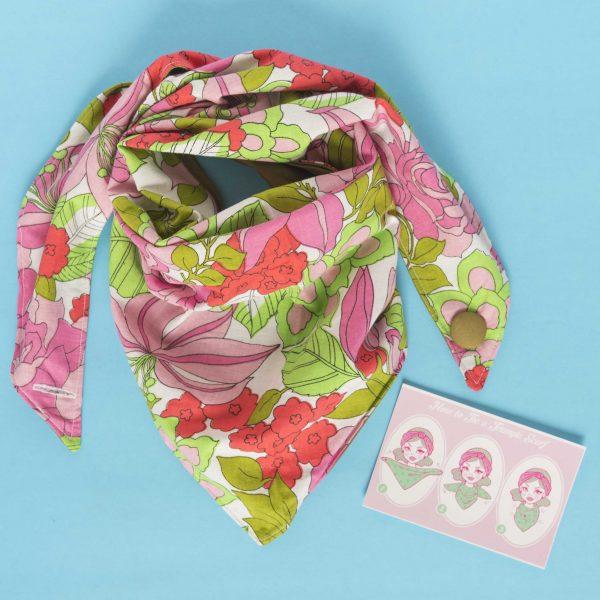 Vintage floral scarf