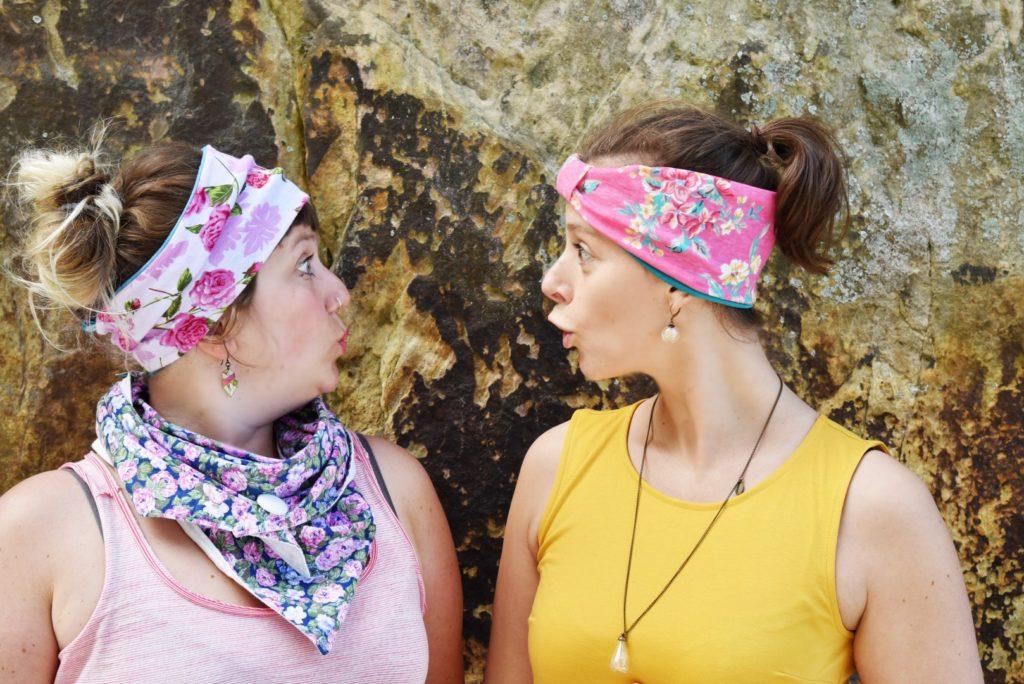 Reclaimed fabric headband