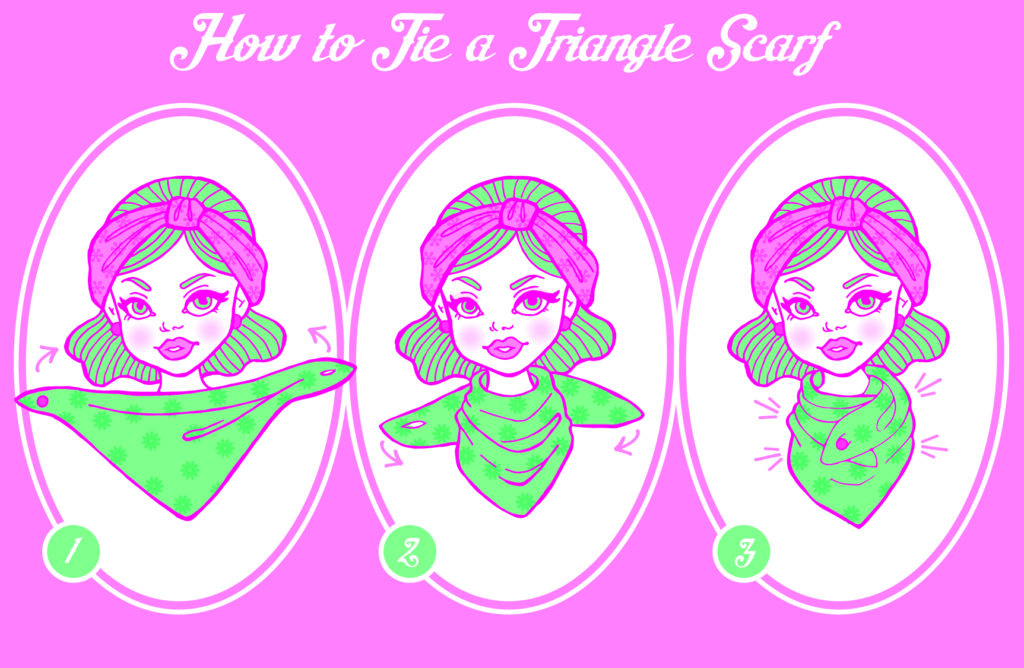 tie a triangle scarf