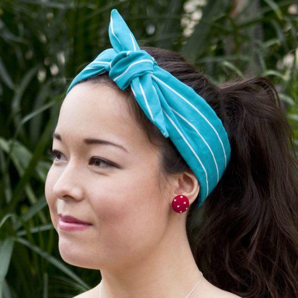 vintage fabric earstuds 3
