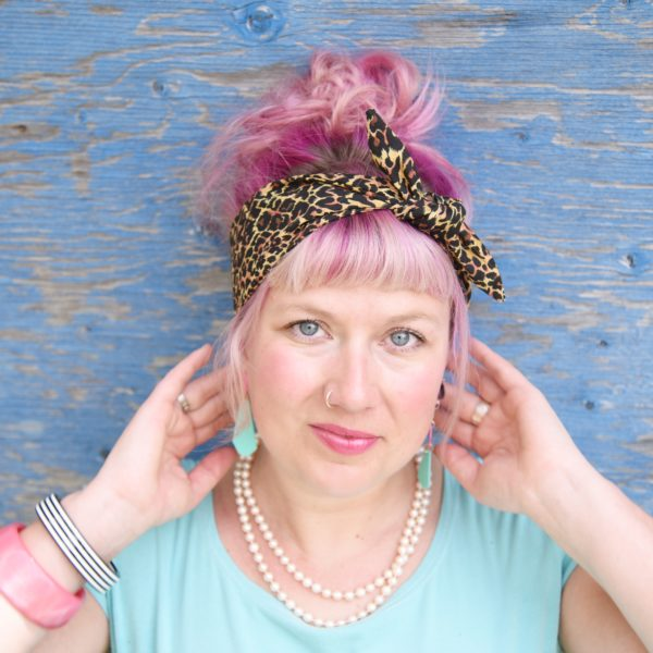 leopard headscarf - maple and oak designs 2