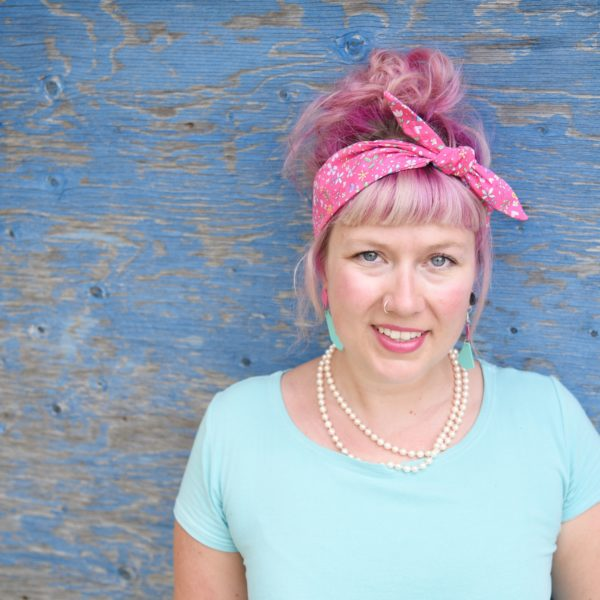 Pink floral headband - Maple And Oak Designs 1