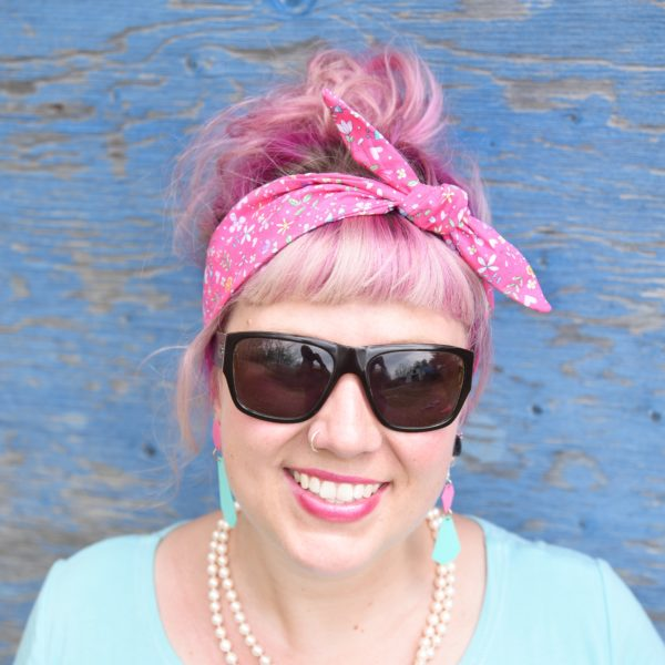 Pink floral headband - Maple And Oak Designs 2