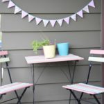 Garland with vintage fabric bunting - Maple And Oak