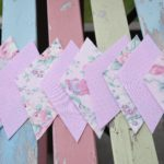 how to make vintage fabric bunting garland 4