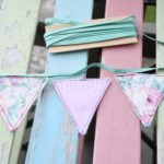 how to make vintage fabric bunting garland 7