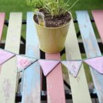 how to make vintage fabric buntinggarland 8
