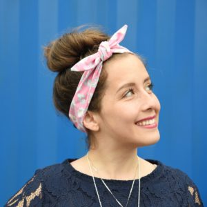 pink rockabilly headband, Maple And Oak Designs 1