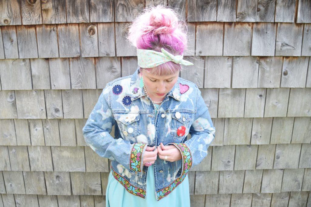 Maple And Oak - funky embroidered jean jacket 6