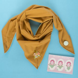 mustard yellow - brown Triangle Scarf