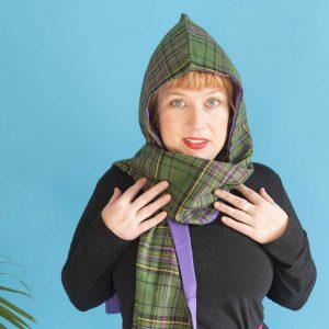 green tartan scarf